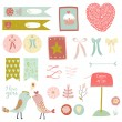 Happy Valentine's Day set — Stock Vector #62726873