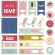 Happy Valentine's Day set — Stock Vector #62727005
