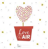 バレンタインの日カードを愛します。 — ストックベクタ