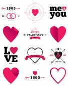 Valentine's day and wedding hearts — Stock Vector