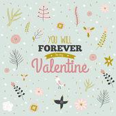 Cartão de dia dos namorados amor — Vetor de Stock