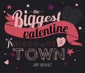 Valentine's Day Discount — Stock Vector