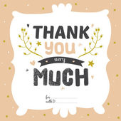 Thank you very much — Stock Vector