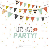 Let's have a party — Stock Vector