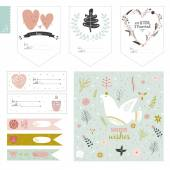 Romantic and love cards — Stock Vector