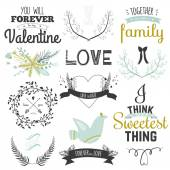 Illustrations for Valentines Day — Stock Vector