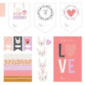 Easter collection, design elements — Stock vektor