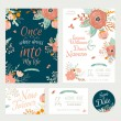 Floral Save the Date invitations — Stock Vector #72769823