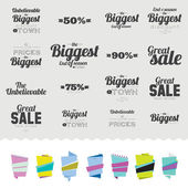 Banners  with Best Discount Offers. — Stock Vector
