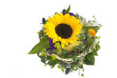 Sun flowers bouquet — Stock Photo