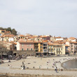 Beach and port collioure, south of france — Stock Photo #52826895