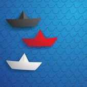 Papírové lodě — Stock vektor
