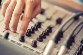 Mixer board — Stock Photo