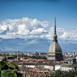 Panoramic view of Turin city center, in Italy — Stock Photo #54202509
