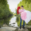 Fairy Tale Couple by the River — Stock Photo #72665807
