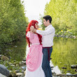 Fairy Tale Couple by the River — Stock Photo #72668211