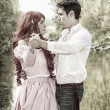 Fairy Tale Couple by the River — Stock Photo #72670013