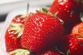 Fresh strawberries closeup — Stock Photo
