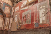 Wall painting of Neptune and Aimone in Roman villa in Herculaneum, Italy  — Stock Photo