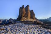 Tre Cime. Dolomite Alps, Italy — Stock Photo