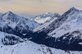 Winter mountain landscape in Austria — Stock Photo