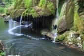 Bigar Cascade Falls in Nera Beusnita Gorges National Park, Romania — Stock Photo
