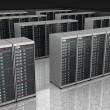 Server room with server clusters. — Stock Photo #55568623