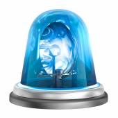Blue flasher icon. Isolated on white — Stock Photo