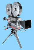 Old style movie camera , isolated — Stock Photo