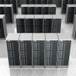Server room in datacenter , clusters — Stock Photo #69538155