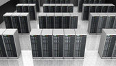 Server room in datacenter , clusters — Stock Photo