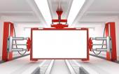 Industrial blank billboard — Stock Photo