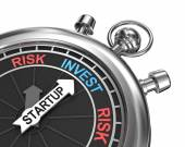 Startup risk invest concept — Stock Photo