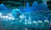 Stock exchange board, abstract background — Stock Photo