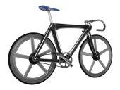 Bicycle isolated on white background — Stock Photo