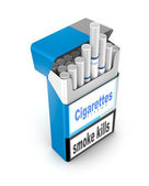 Cigarettes pack 3D illustration isolated over white — Stock Photo