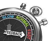 Fast Feedback, time concept — Stock Photo