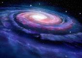 Spiral galaxy, illustration of Milky Way — Stock Photo