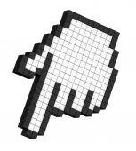 3D pixel hand arrow, isolated — Stock Photo
