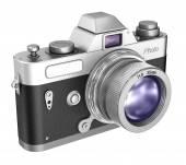 Retro camera isolated on white background — Stock Photo