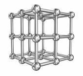 Cubic  molecule connect, steel model — Stock Photo