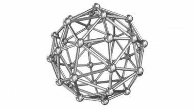 Molecule stucture steel model, loop rotation — Stock Video