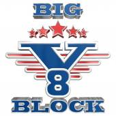 Big block logo in 3D style — Stock Photo