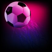 Soccer ball. Football abstract illustration — ストックベクタ