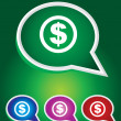 Editable Vector Icon of Dollar On Speech Bubble Shape. EPS 10 — Stock Vector #54189111
