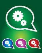 ícone vetoriais editáveis de configurações em forma de bolha do discurso. eps 10 — Vetor de Stock