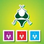 Colourful editable icon of Bikini & Panty — Stock Vector #54338781