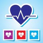 Colourful editable icon of Heart Beat — Stock Vector #54338895