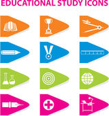 Colourful Educational Icons — Stock Vector