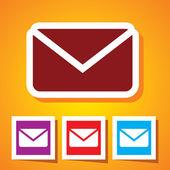 иконка почты — Cтоковый вектор